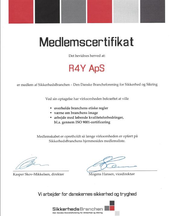 Certifikat sikkerhedsbranchen