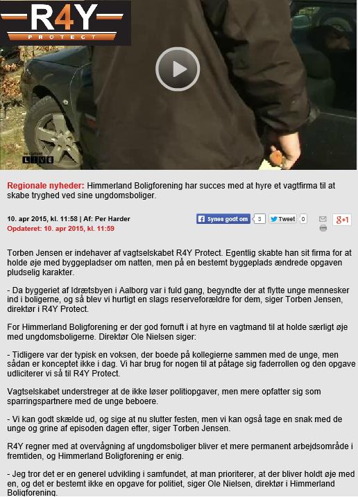 R4Y I TV2 Med R4Y Konceptet til Kollegium