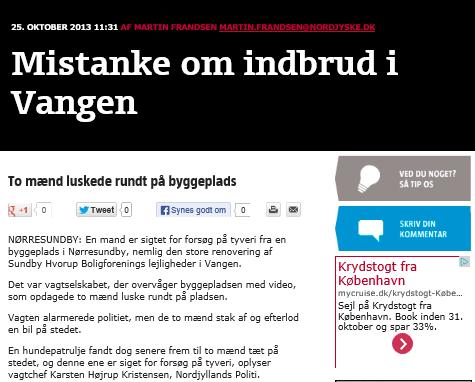 R4Y fanger sammen med Nordjyllands politi 2 gerningsmænd i forbindelse med tyveri