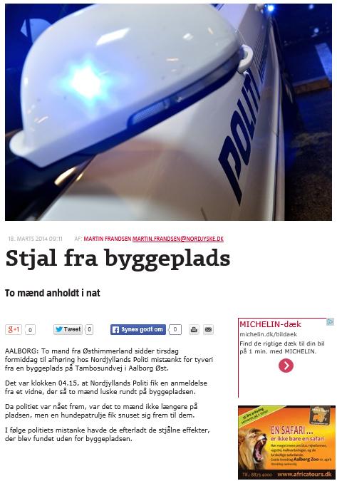 Tyve fanget af politi efter tilkald fra R4Y vagt
